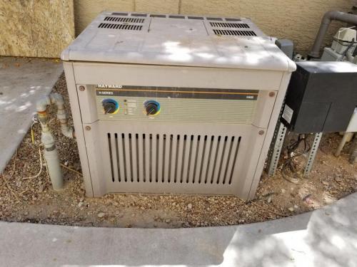 pool heater - before