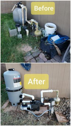 Before  After Pool Filter Install